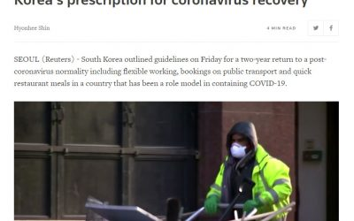 Work smart, travel alone, eat out fast: South Korea's prescription for coronavirus recovery